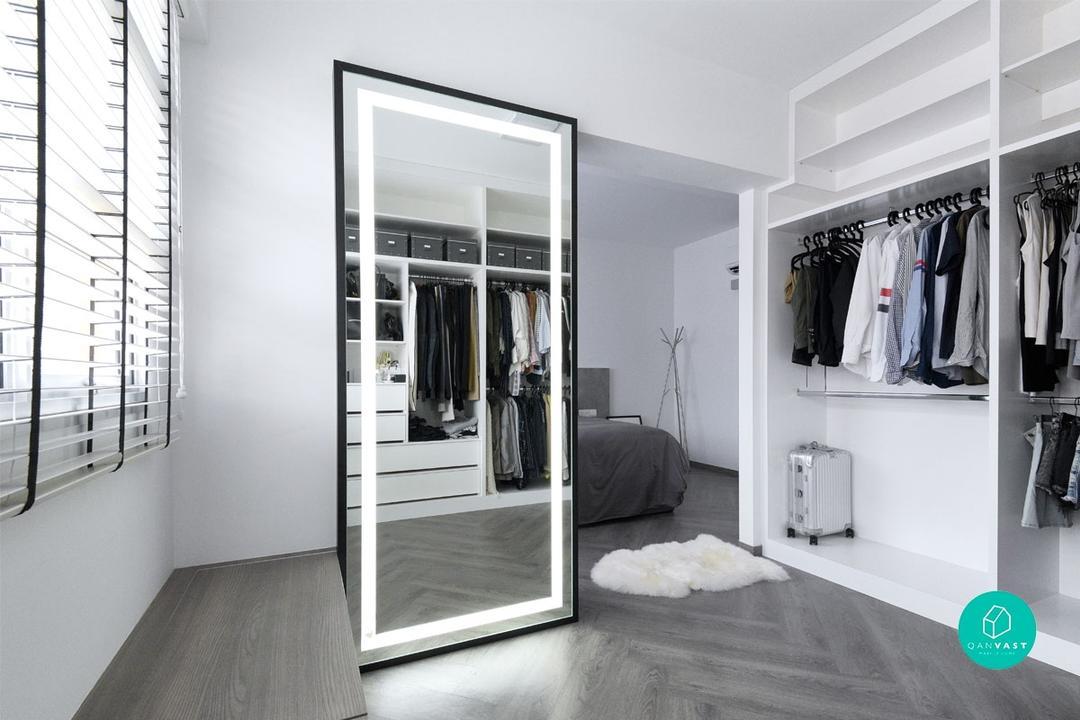 Monochrome-Walk-in Wardrobe