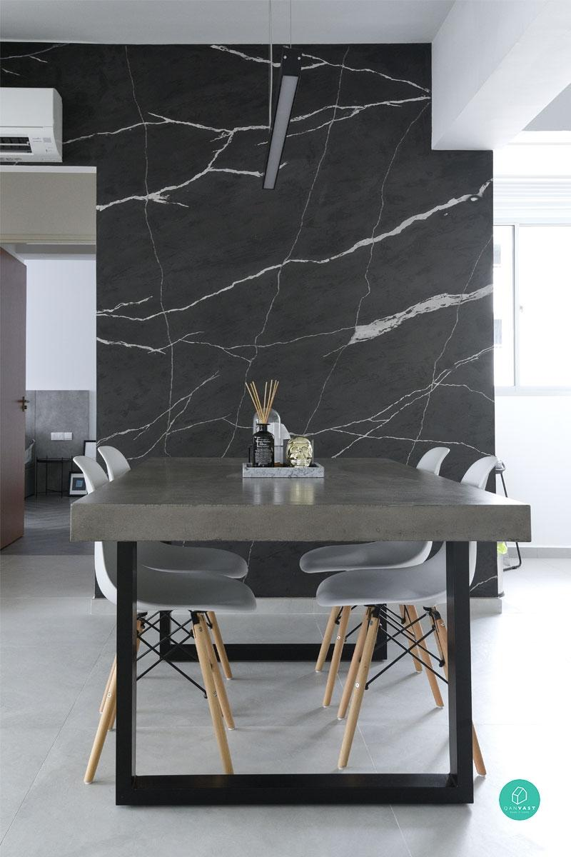 Monochrome-Home-Marble-Feature-Wall