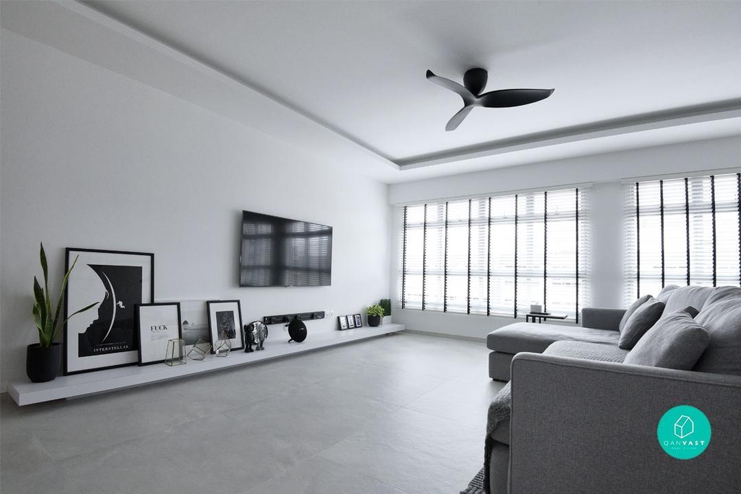 Monochrome-Home-TV area