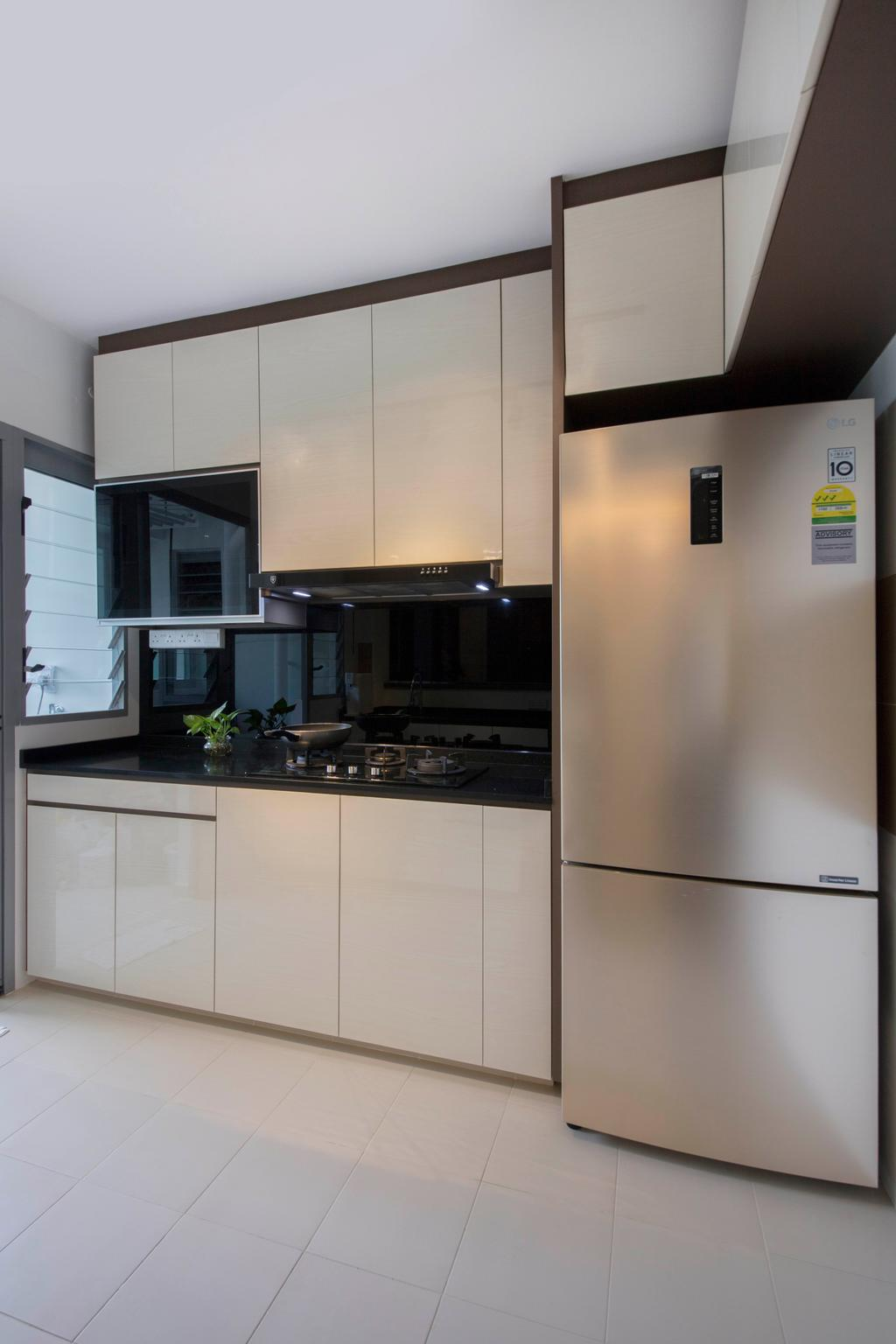 Modern, HDB, Kitchen, Edgedale Plains, Interior Designer, VVID Elements