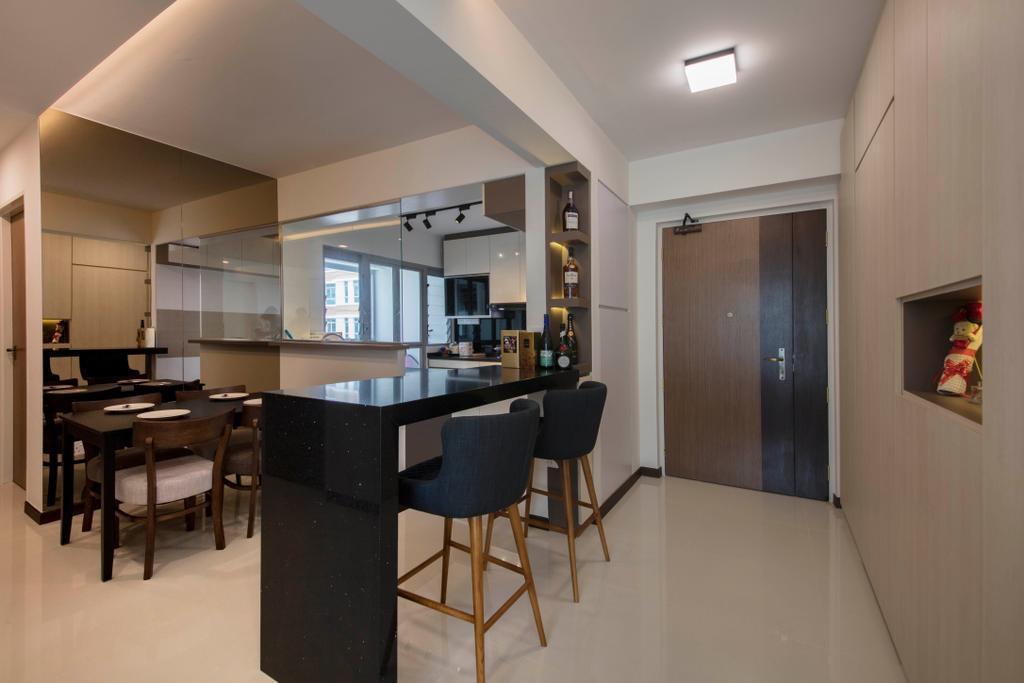 Modern, HDB, Dining Room, Edgedale Plains, Interior Designer, VVID Elements