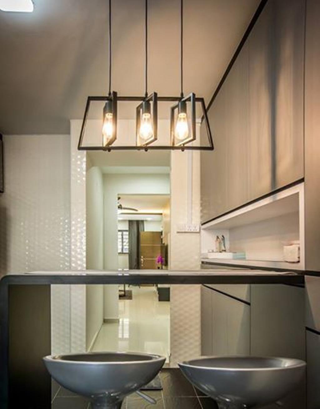Contemporary, HDB, Dining Room, Jurong West Street 52, Interior Designer, Flo Design