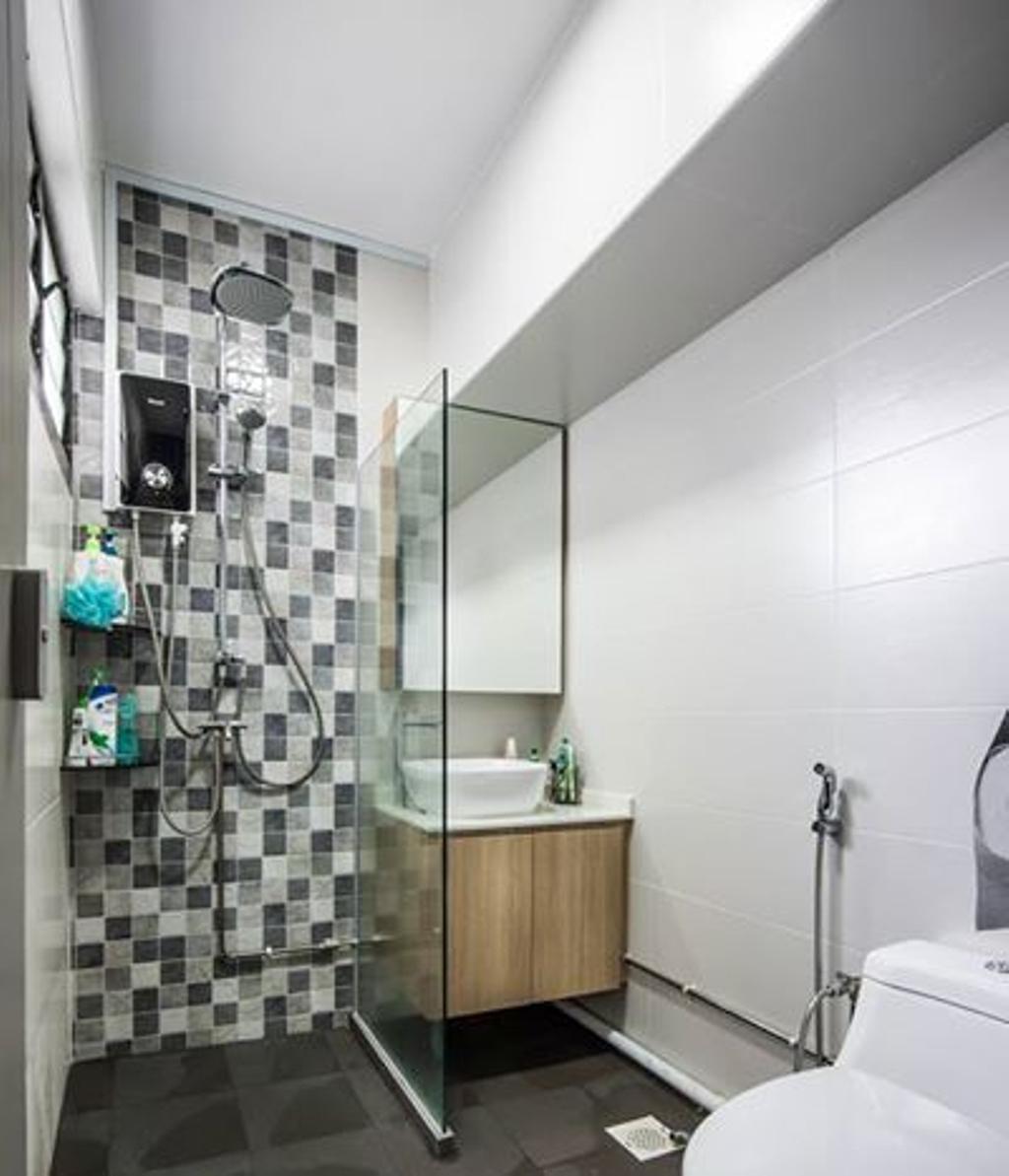 Contemporary, HDB, Bathroom, Jurong West Street 52, Interior Designer, Flo Design