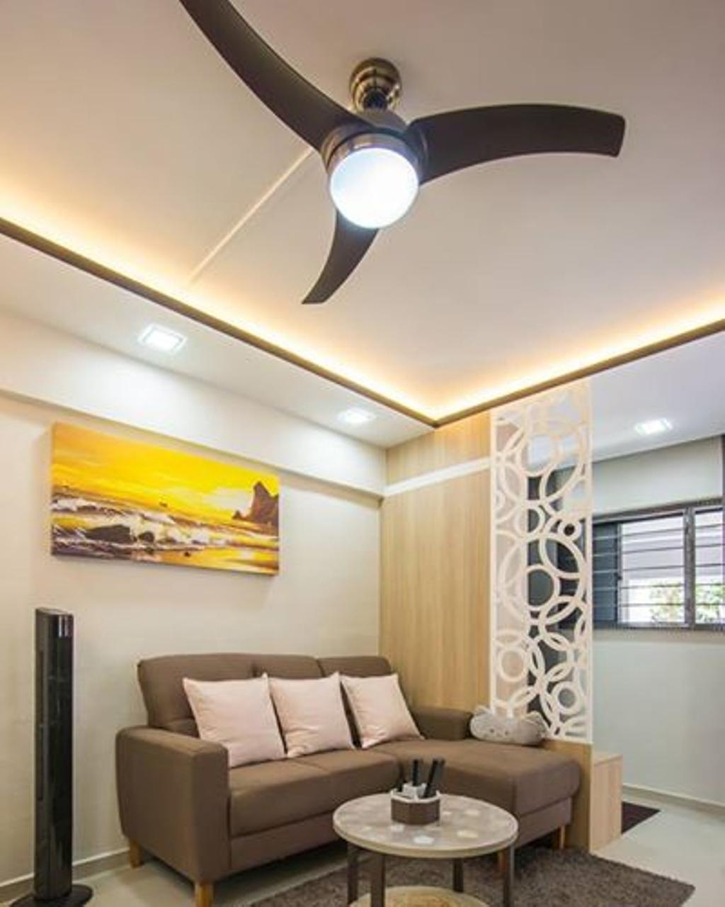 Contemporary, HDB, Living Room, Jurong West Street 52, Interior Designer, Flo Design