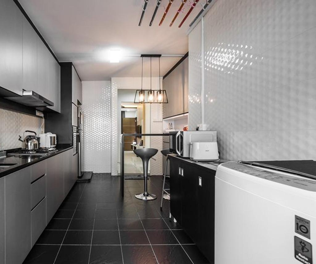 Contemporary, HDB, Kitchen, Jurong West Street 52, Interior Designer, Flo Design