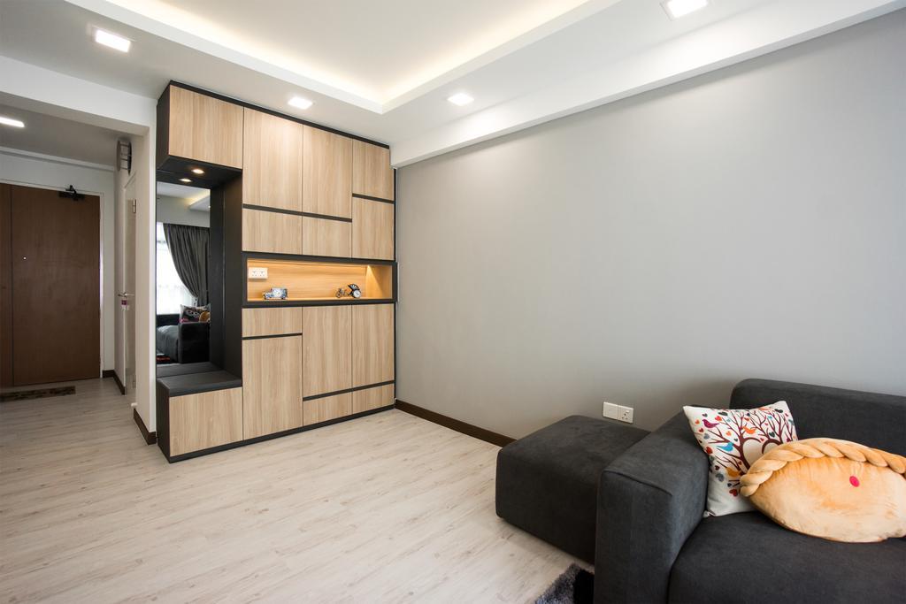 Modern, HDB, Living Room, Yishun Street 41, Interior Designer, Flo Design