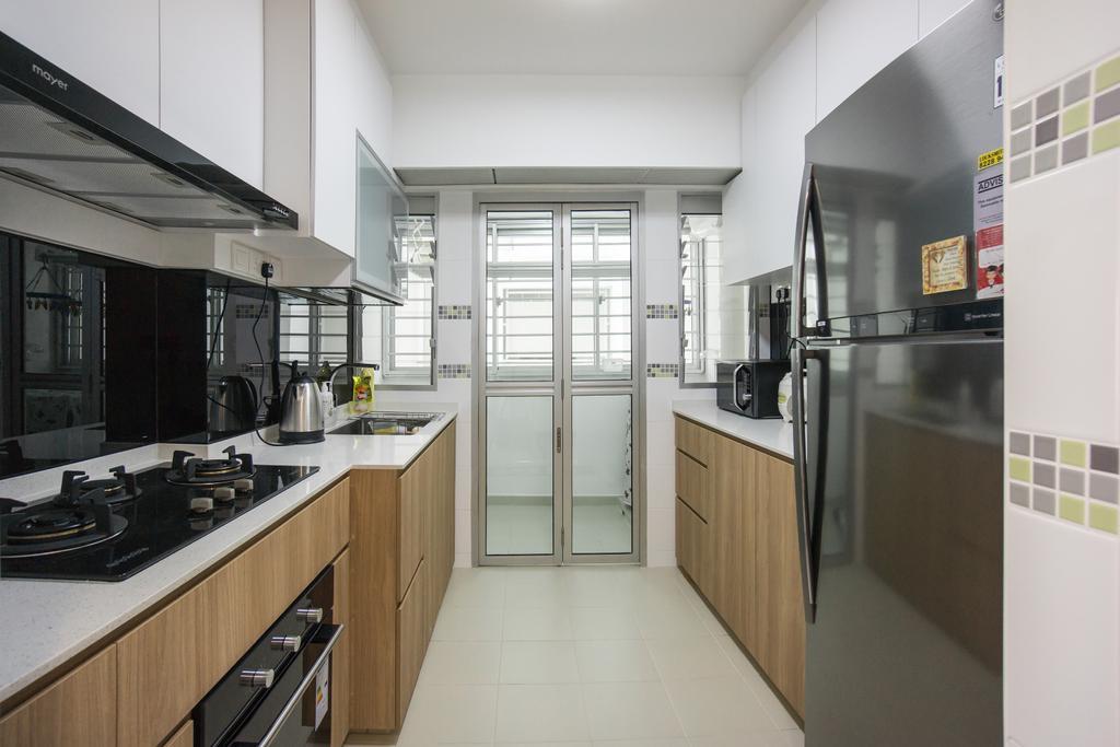 Modern, HDB, Kitchen, Yishun Street 41, Interior Designer, Flo Design