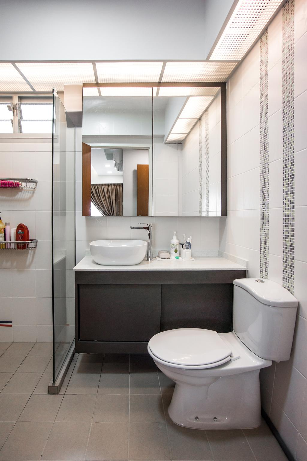 Modern, HDB, Bathroom, Yishun Street 41, Interior Designer, Flo Design