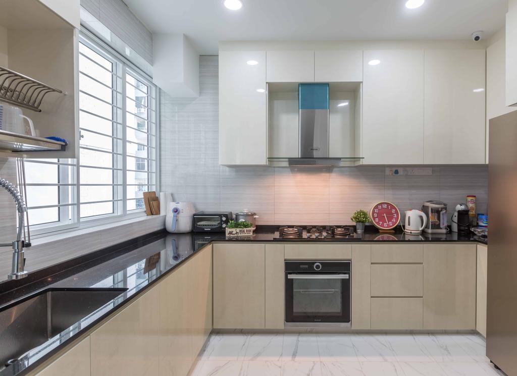 Modern, Condo, Kitchen, Amber Gardens, Interior Designer, Flo Design