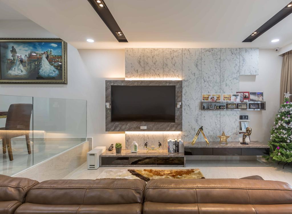 Modern, Condo, Living Room, Amber Gardens, Interior Designer, Flo Design