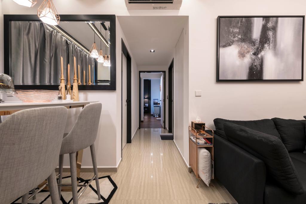 Contemporary, Condo, The Brownstone, Interior Designer, Glamour Concept