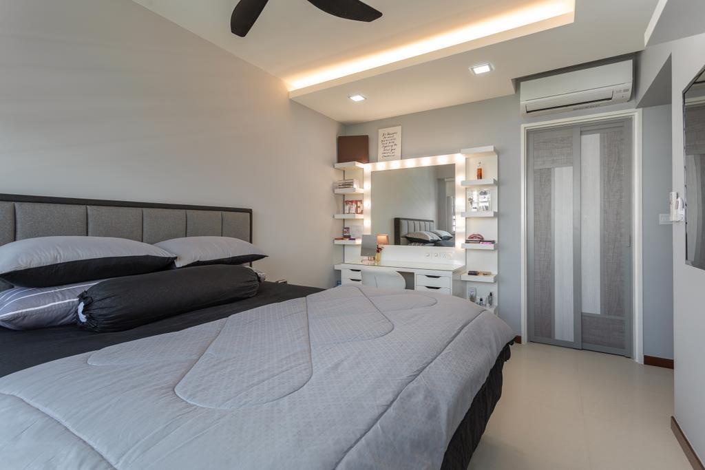 Contemporary, HDB, Bedroom, Sumang Lane, Interior Designer, DreamCreations Interior