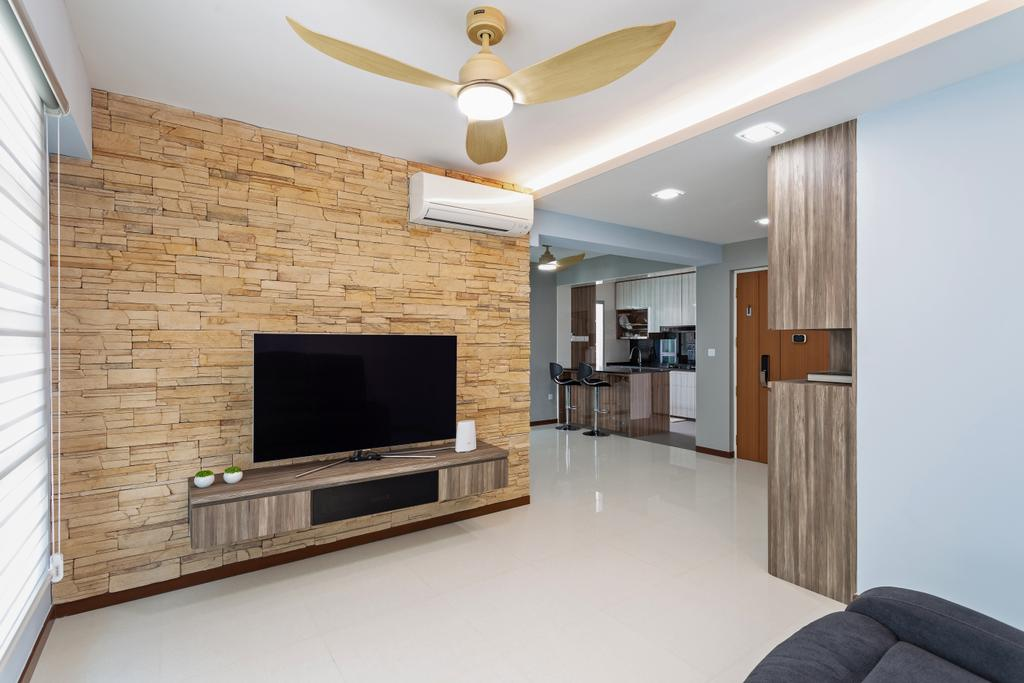 Contemporary, HDB, Living Room, Sumang Lane, Interior Designer, DreamCreations Interior