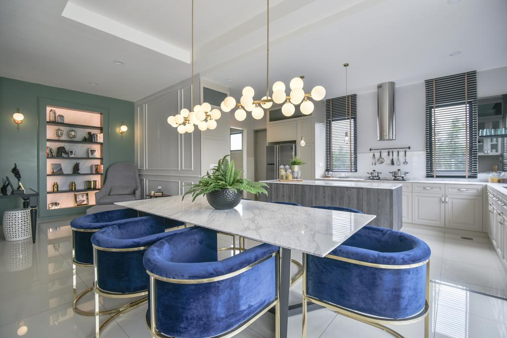 Modern, Landed, Dining Room, Setia Ecohill, Semenyih, Interior Designer, SQFT Space Design Management