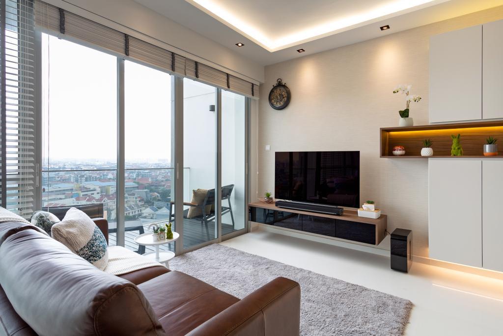 Contemporary, Condo, Living Room, The Esta, Interior Designer, EA Interior Design