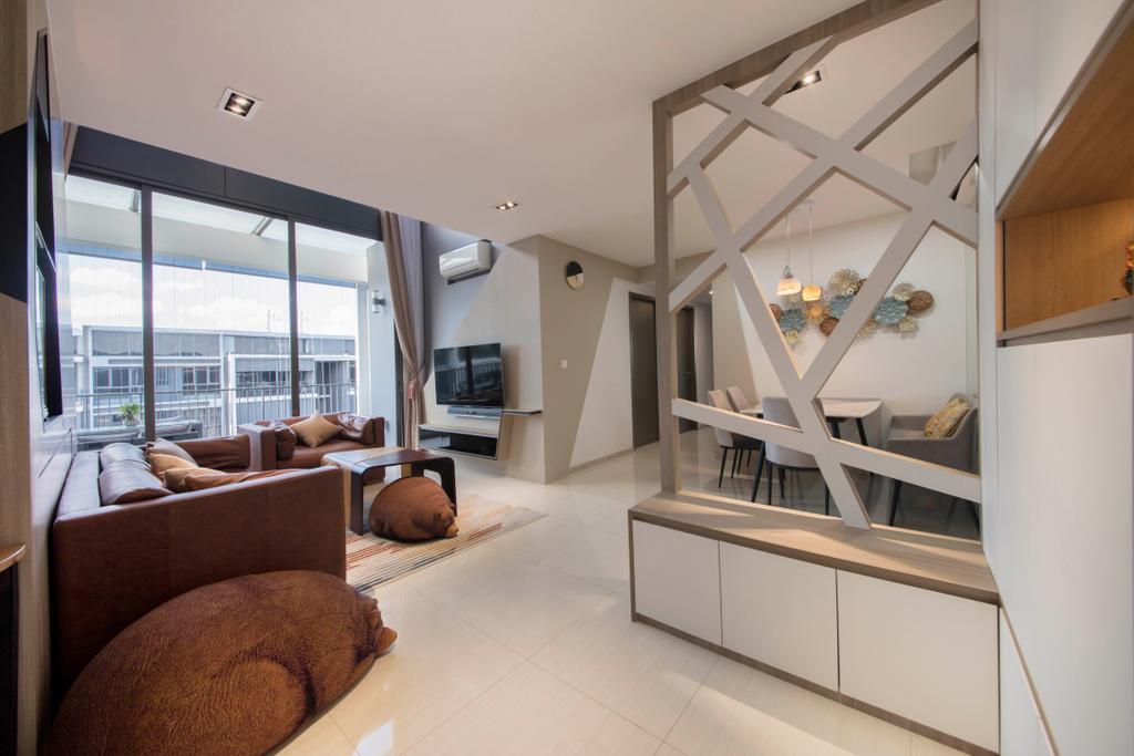 Contemporary, Condo, Living Room, Bellewaters, Interior Designer, Metamorph Design