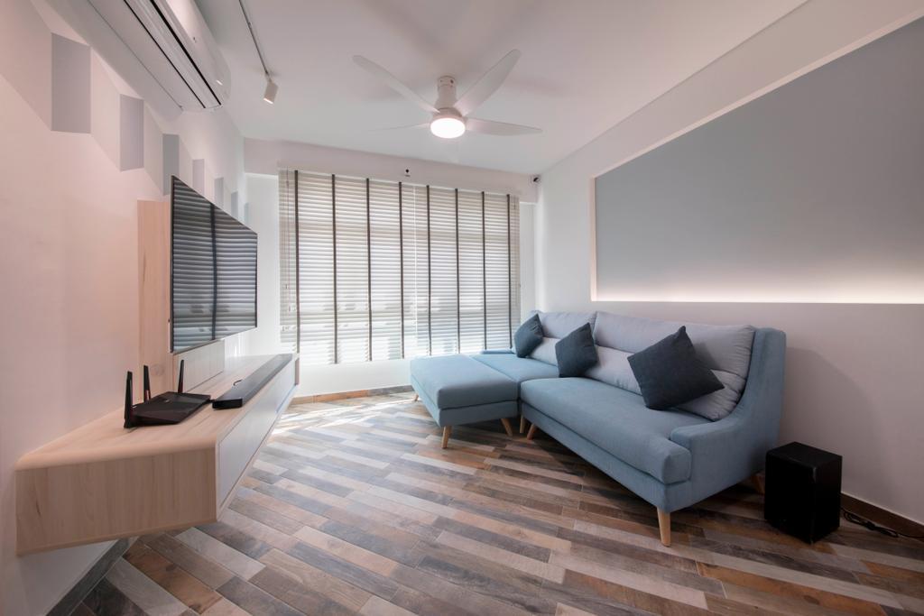 Scandinavian, HDB, Living Room, Bedok North Avenue 4, Interior Designer, Starry Homestead