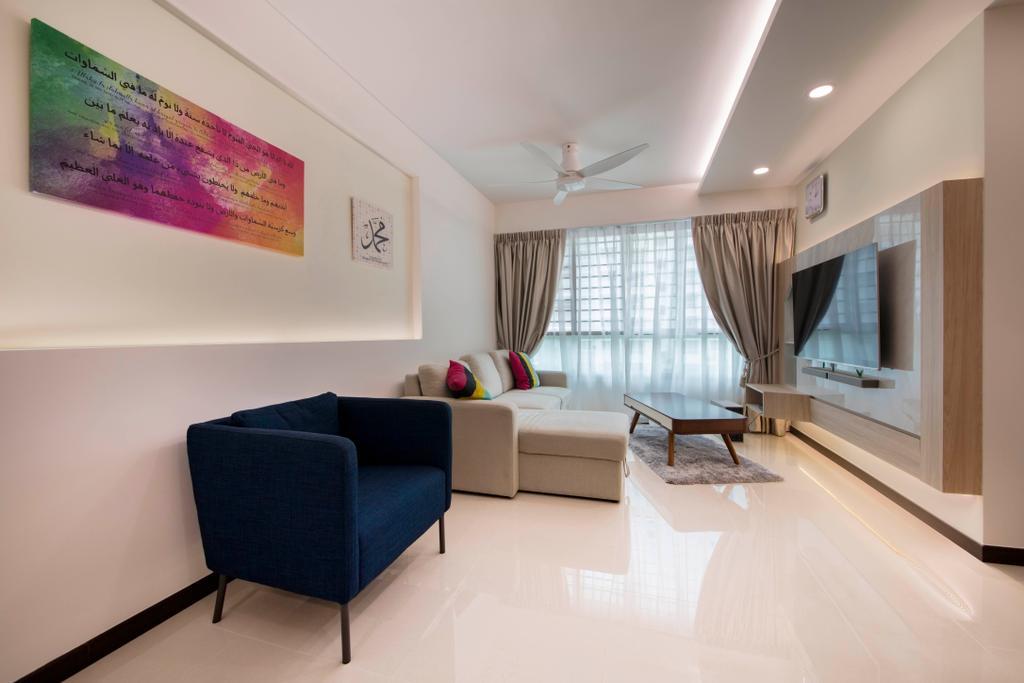 Modern, HDB, Living Room, Telok Blangah Heights, Interior Designer, Starry Homestead