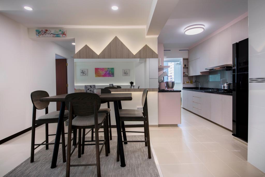 Modern, HDB, Dining Room, Telok Blangah Heights, Interior Designer, Starry Homestead