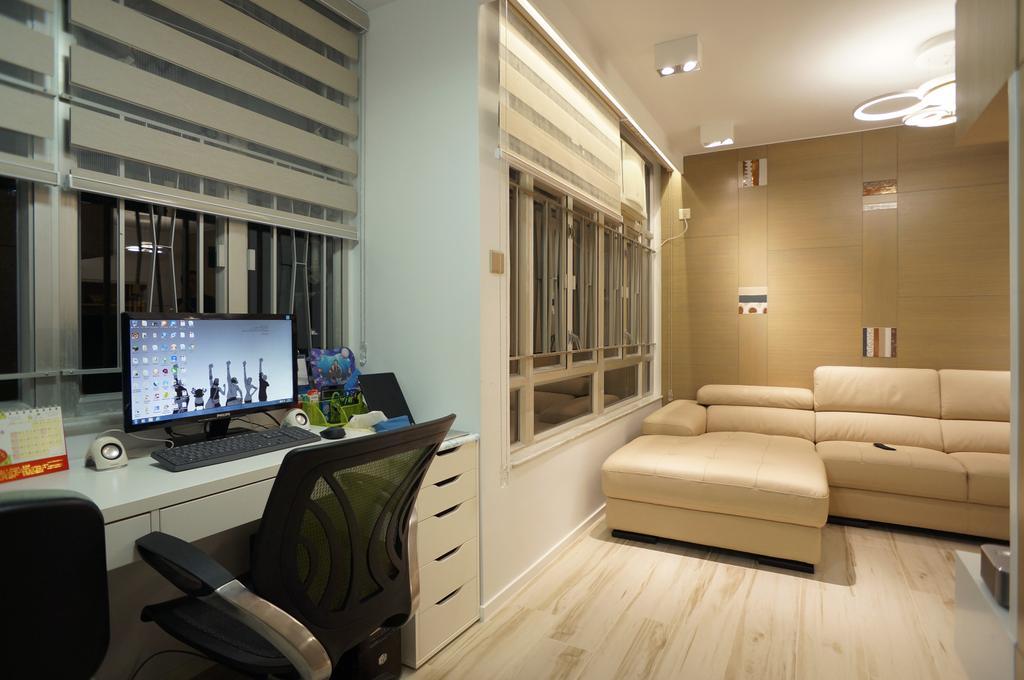 簡約, 公屋/居屋, 書房, 慈安苑, 室內設計師, 和生設計, 摩登
