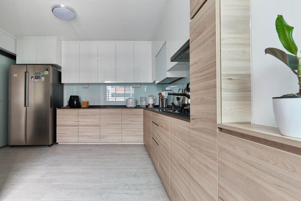 Contemporary, HDB, Kitchen, Yishun Street 61, Interior Designer, Team Interior Design