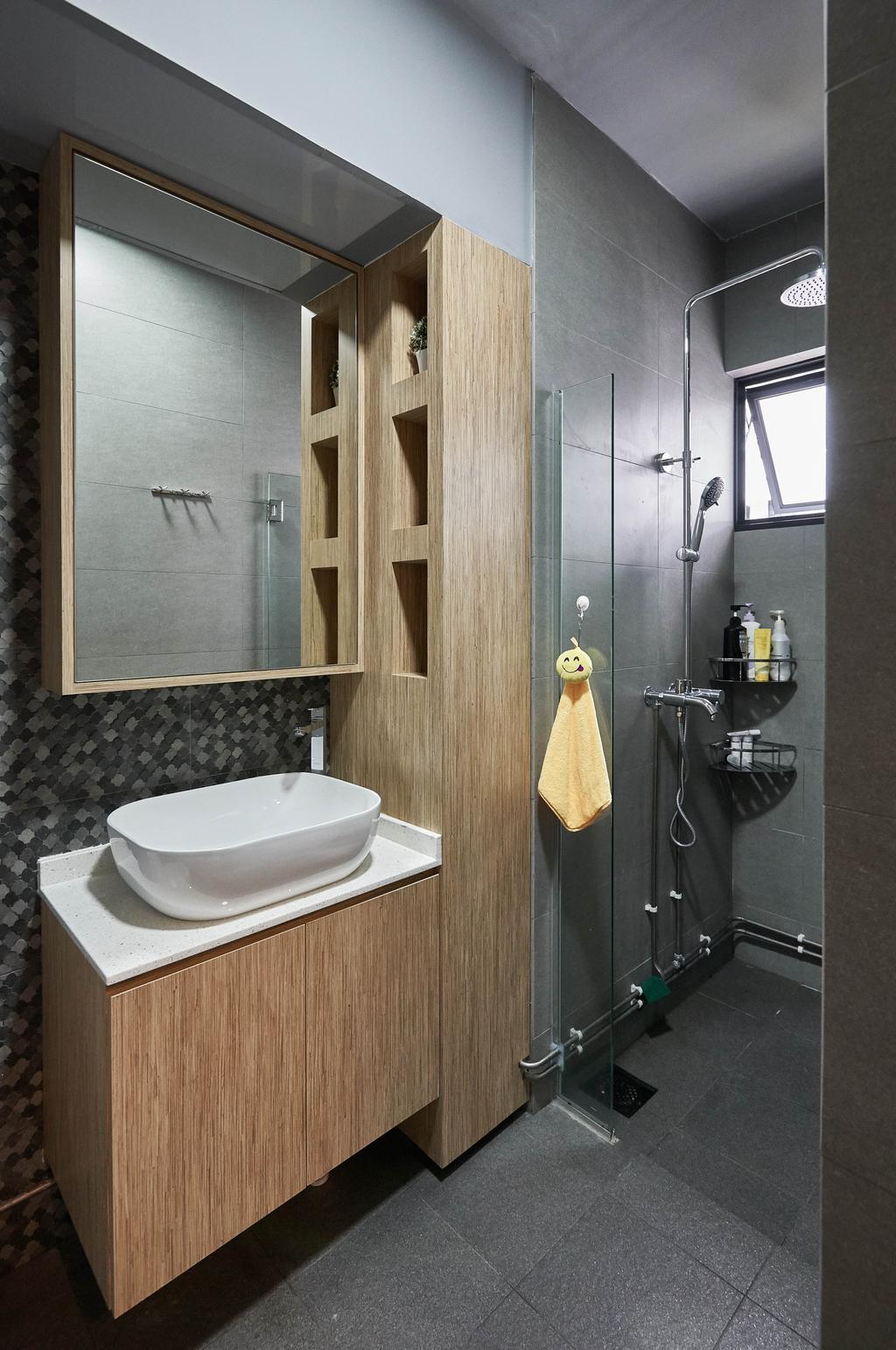Contemporary, HDB, Bathroom, Yishun Street 61, Interior Designer, Team Interior Design