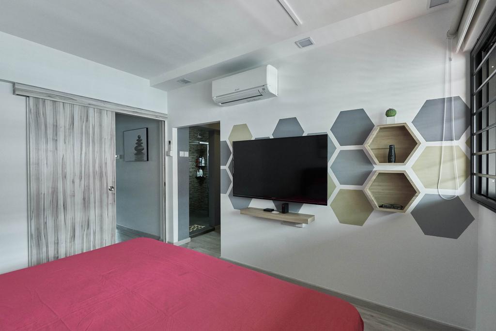 Contemporary, HDB, Bedroom, Yishun Street 61, Interior Designer, Team Interior Design