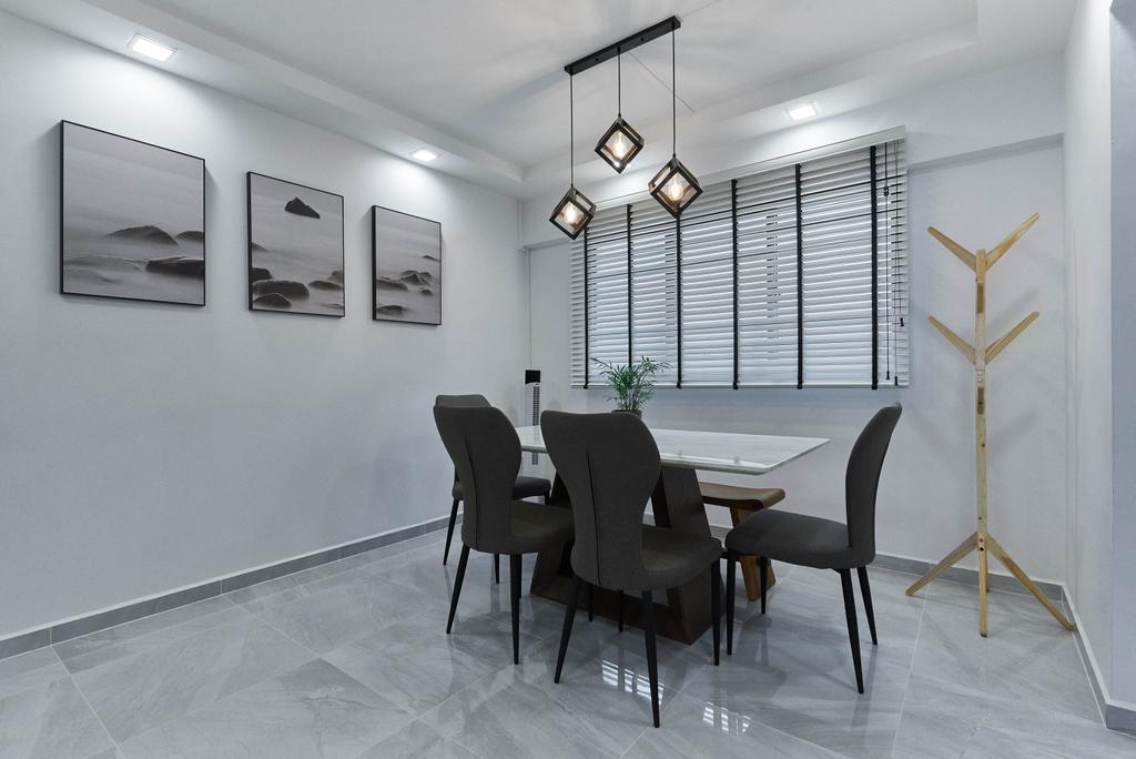 Contemporary, HDB, Dining Room, Yishun Street 61, Interior Designer, Team Interior Design