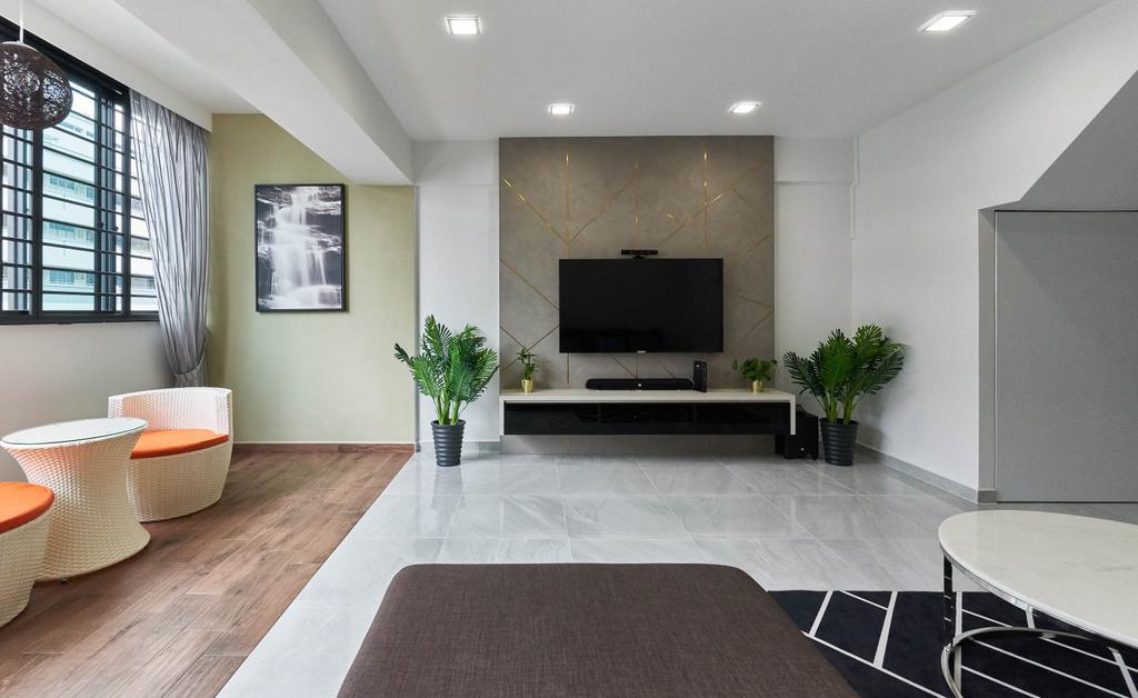 Contemporary, HDB, Living Room, Yishun Street 61, Interior Designer, Team Interior Design