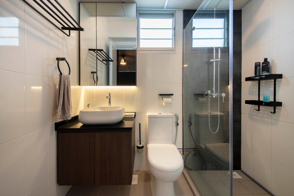 Contemporary, HDB, Bathroom, Ang Mo Kio Street 51, Interior Designer, Posh Living Interior Design