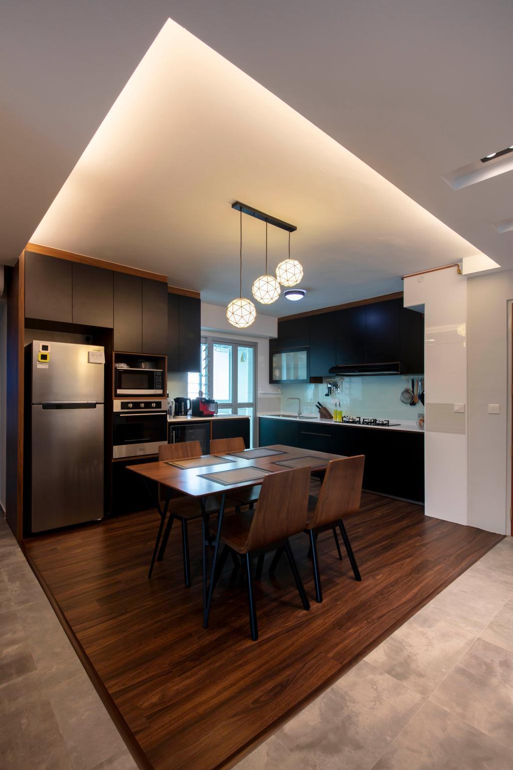 Contemporary, HDB, Kitchen, Ang Mo Kio Street 51, Interior Designer, Posh Living Interior Design