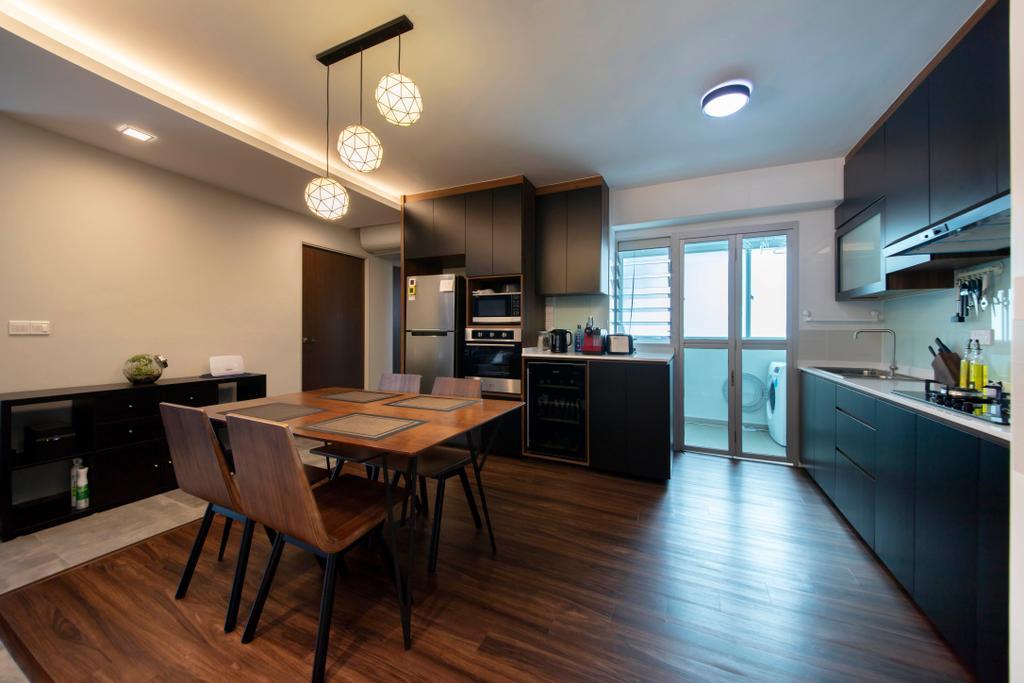 Contemporary, HDB, Dining Room, Ang Mo Kio Street 51, Interior Designer, Posh Living Interior Design