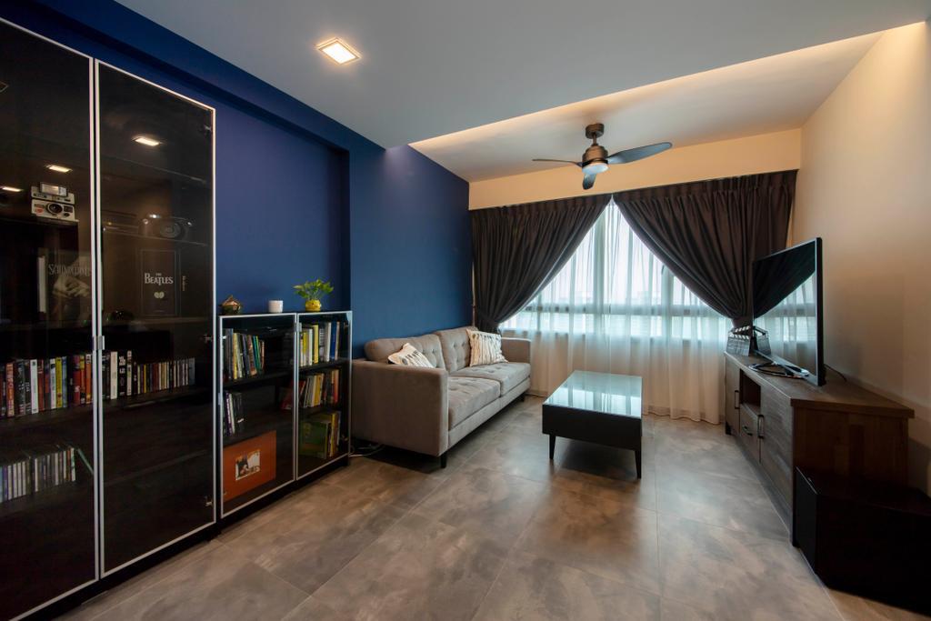 Contemporary, HDB, Living Room, Ang Mo Kio Street 51, Interior Designer, Posh Living Interior Design