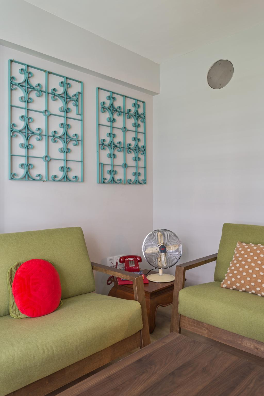 Vintage, HDB, Living Room, Buangkok Crescent, Interior Designer, ARK-hitecture
