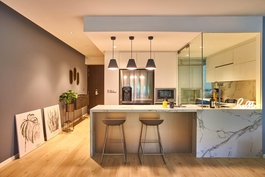 Scandinavian, Condo, Dining Room, The Shore Residences, Interior Designer, Bowerman