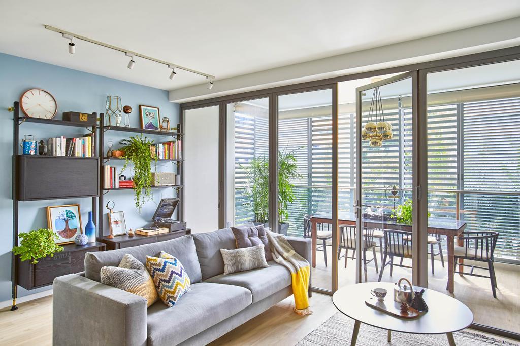 Scandinavian, Condo, Living Room, The Shore Residences, Interior Designer, Bowerman