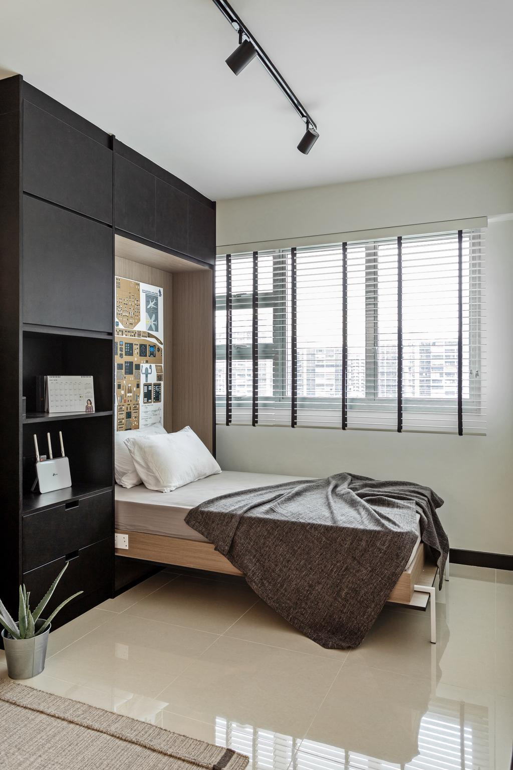 Minimalistic, HDB, Bedroom, Toa Payoh Lorong 1, Interior Designer, ARK-hitecture, Contemporary, Kids Room, Spare Room