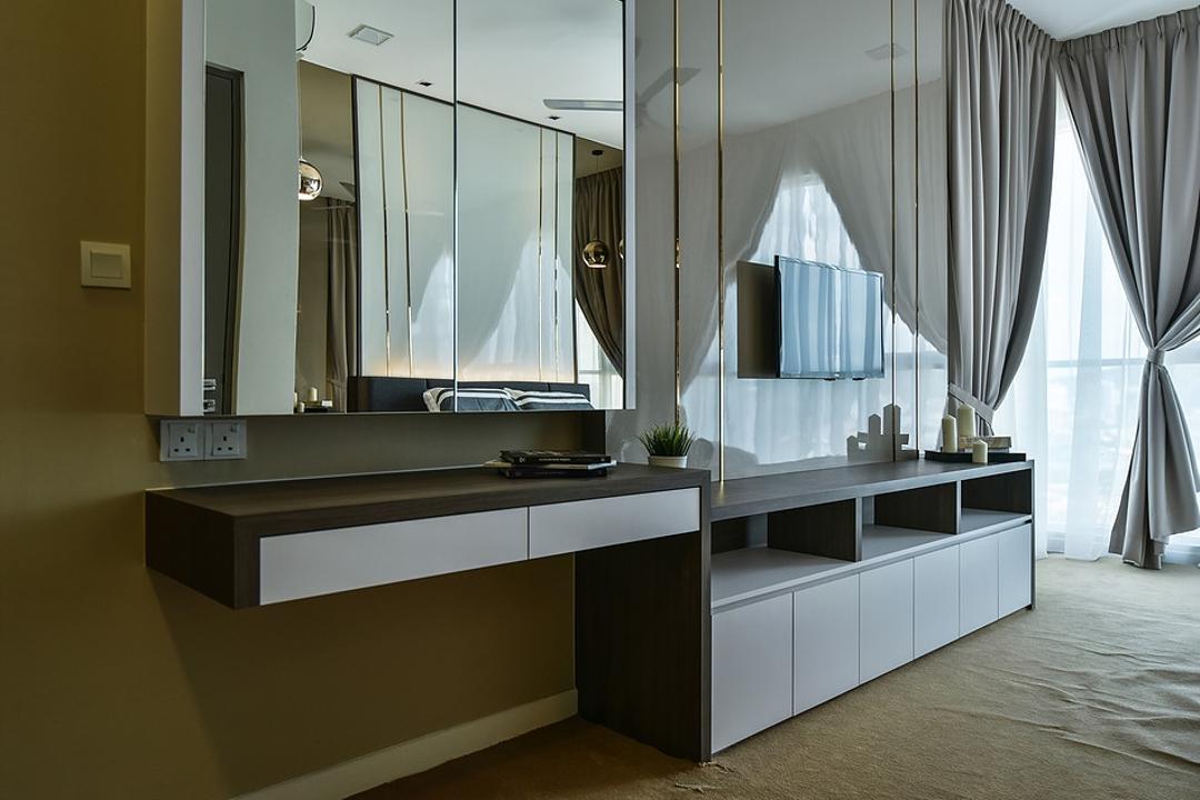 Damansara Utama, IQI Concept Interior Design & Renovation, Contemporary, Bedroom, Condo, Dresser, Vanity