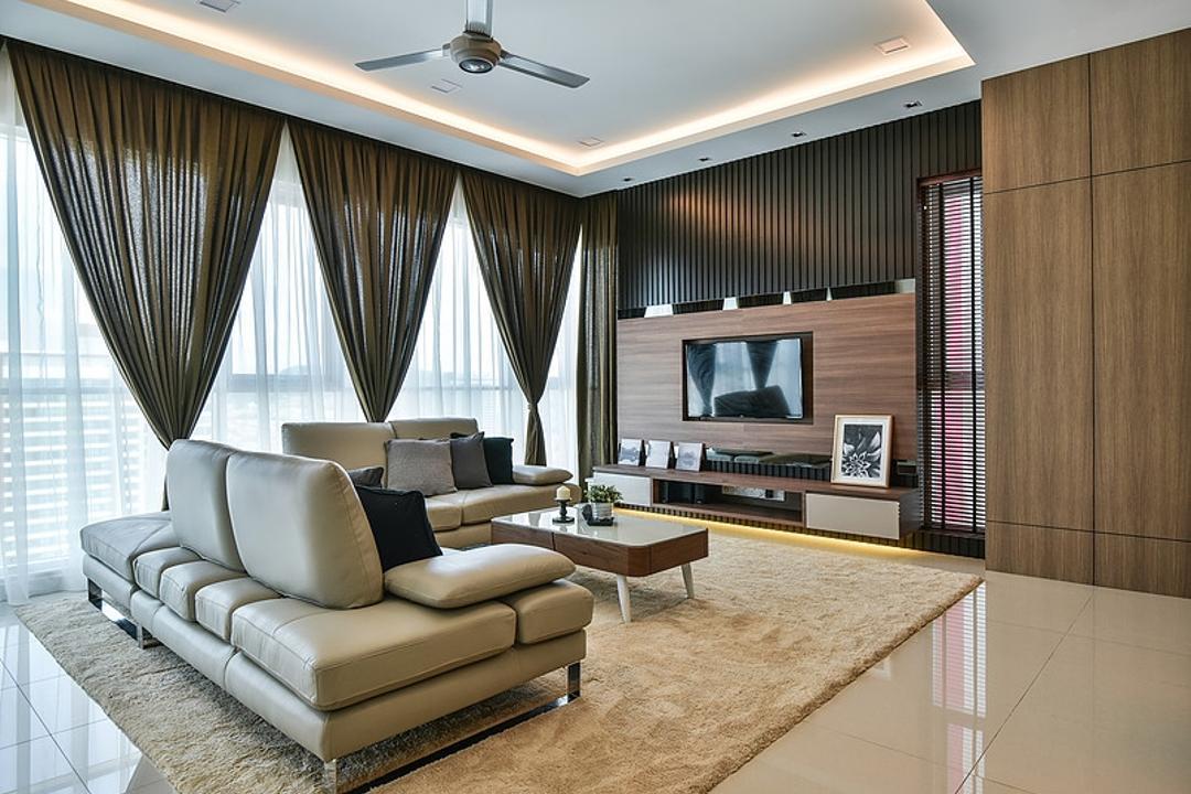 Damansara Utama, IQI Concept Interior Design & Renovation, Contemporary, Living Room, Condo, Feature Wall