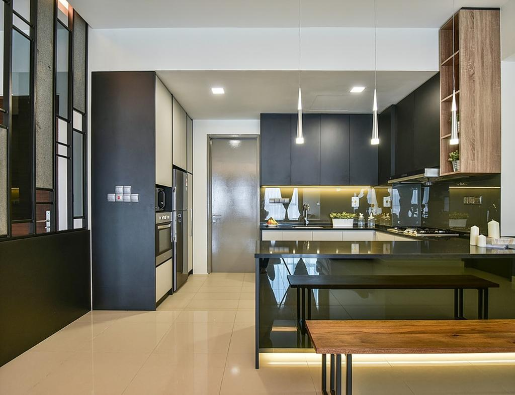 Contemporary, Condo, Kitchen, Damansara Utama, Interior Designer, IQI Concept Interior Design & Renovation