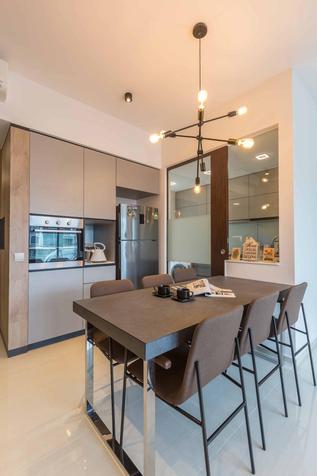 Contemporary, Condo, Dining Room, D'Nest, Interior Designer, The Orange Cube