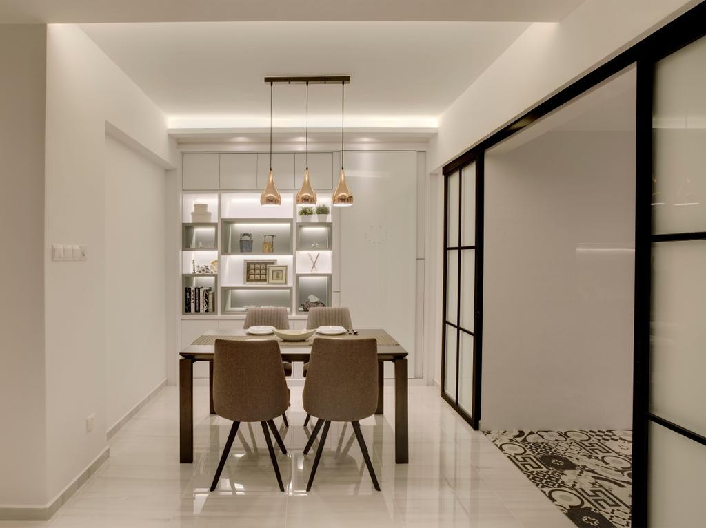 Modern, Condo, Dining Room, Emerald Park, Interior Designer, The Orange Cube