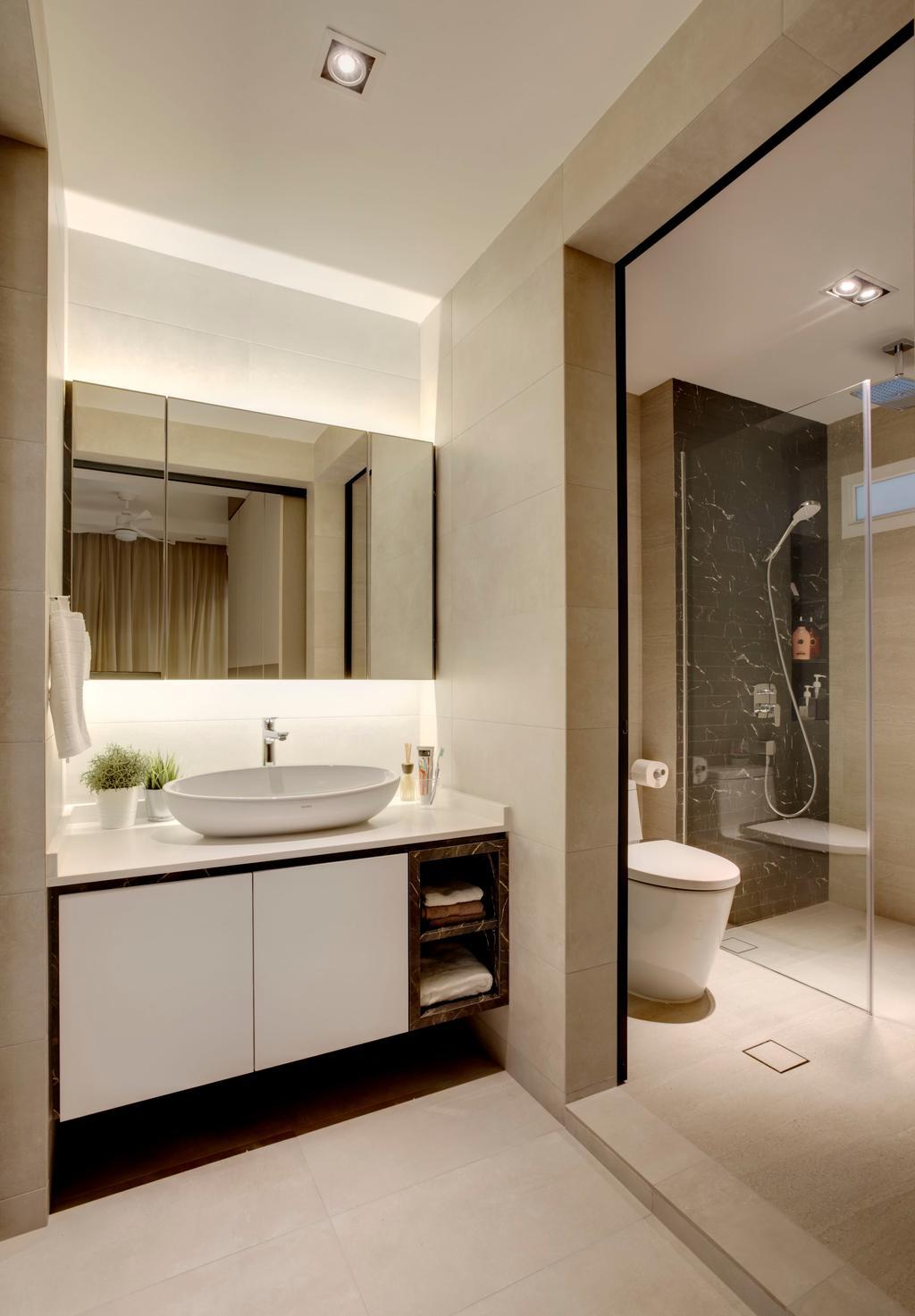 Modern, Condo, Bathroom, Emerald Park, Interior Designer, The Orange Cube