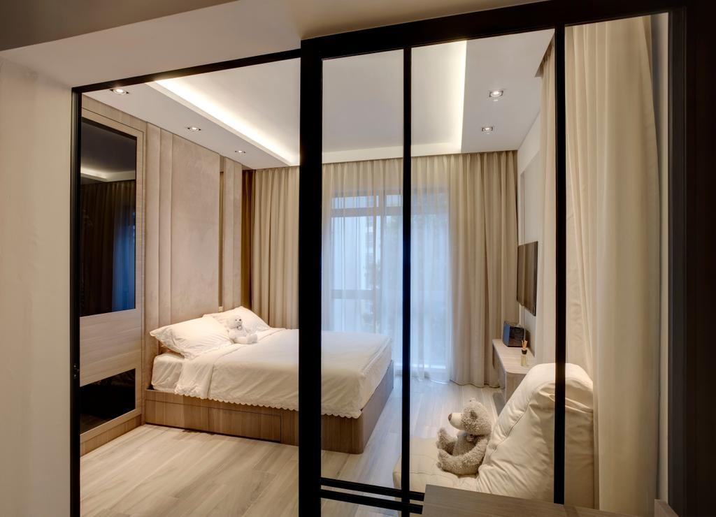 Modern, Condo, Bedroom, Emerald Park, Interior Designer, The Orange Cube