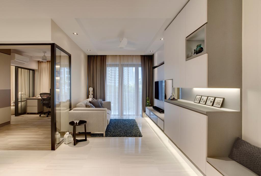 Modern, Condo, Living Room, Emerald Park, Interior Designer, The Orange Cube
