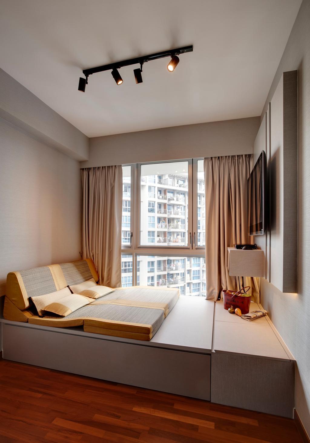 Modern, Condo, Bedroom, Q Bay Residences, Interior Designer, The Orange Cube