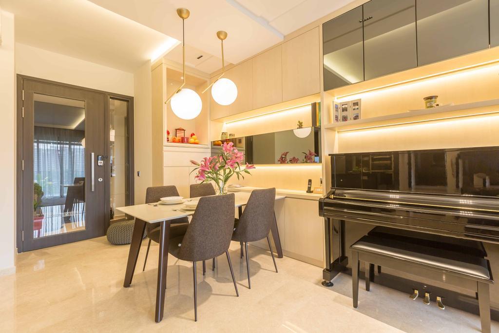 Contemporary, Condo, Dining Room, Rivertrees Residences, Interior Designer, The Orange Cube
