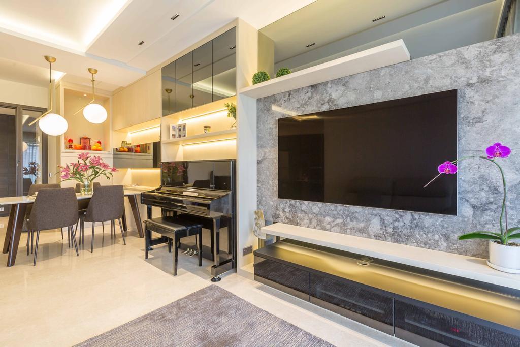 Contemporary, Condo, Living Room, Rivertrees Residences, Interior Designer, The Orange Cube