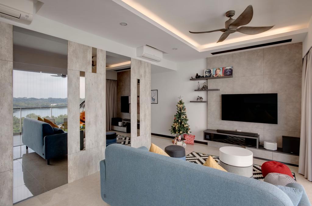 Scandinavian, Condo, Living Room, Santorini, Interior Designer, The Orange Cube