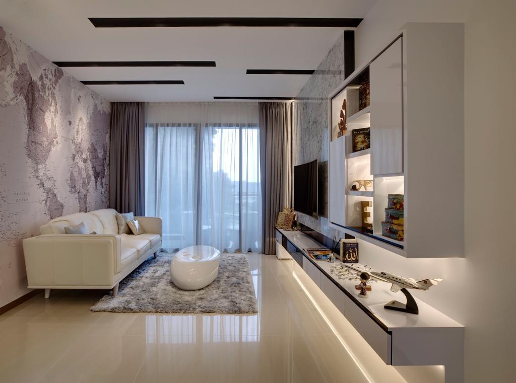 Modern, Condo, Living Room, Sea Horizon, Interior Designer, The Orange Cube